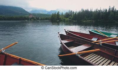 kayak boat on calm clear mountain summer lake - Kayak Boat ...