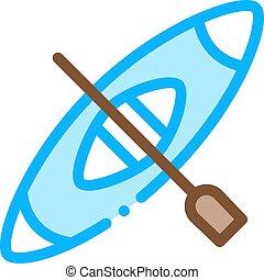 Kayak Canoeing Icon Vector Illustration