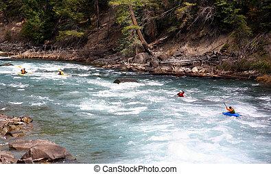 Kayak Group - a group kayaking