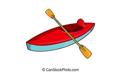 Kayak icon animation cartoon best object isolated on white background