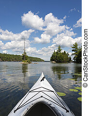 kayak, lago, norte