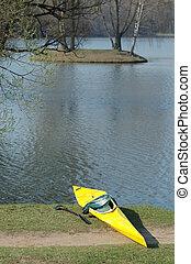 Kayak on the beach