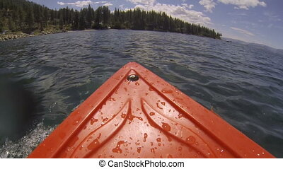 Kayak POV Adventure Land Ahoy - A kayak point of view (POV)...