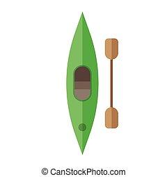 kayak, remo, ícone