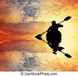 Kayak silhouette
