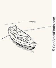 Kayak sketch vector illustration