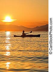 kayaking, in, montenegro
