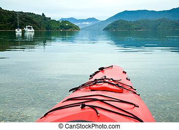 Kayaking in New Zealand