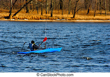 Kayaking in Winter on the Wisconsin River