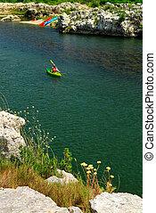 kayaking, méridional, france