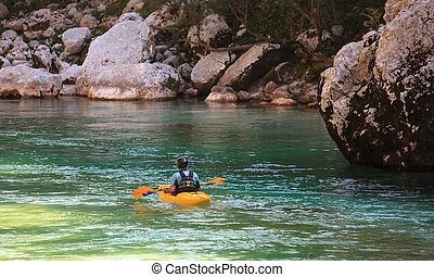 Kayaking on the Soca river, Slovenia - Kayaking in the ...