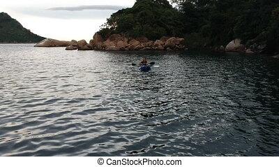 Kayaking Pair in Lake Malawi