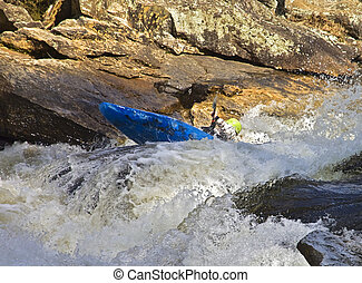Kayaking River Rapids
