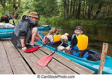 kayaking, spedizione