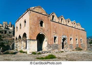 kayakoy, gruzy, od, grecki kościół