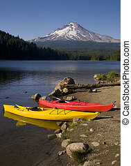 Kayaks At Mount Hood