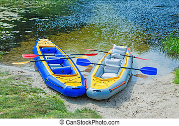 Kayaks Ready to be Used