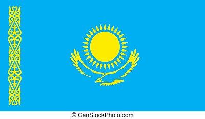 kazachstan, republika, bandera