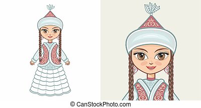 Kazakh girl in national costume