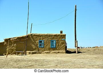 Kazakh House in Sarychyk Kazakhstan