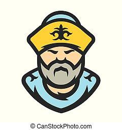 Kazakh. Kazakhstan Vector Cartoon illustration - Man in ...