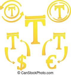 Kazakh Tenge currency symbol icon of Kazakhstan vector ...