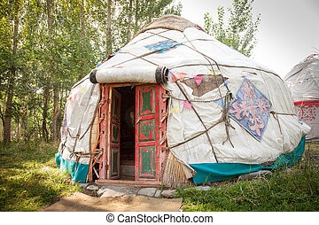 A Kazakh yurt in North West China