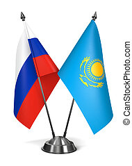 Kazakhstan and Russia - Miniature Flags. - Kazakhstan and...
