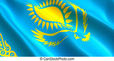 Kazakhstan flag 3D