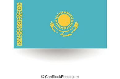 Kazakhstan Flag - Official flag of Kazakhstan.