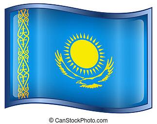 Kazakhstan Flag icon. - Kazakhstan Flag icon, isolated on...