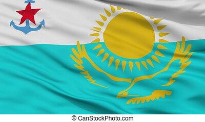 Kazakhstan Naval Ensign Flag Closeup Seamless Loop - Naval...