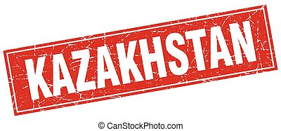 Kazakhstan red square grunge vintage isolated stamp
