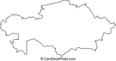 Kazakhstan silhouette Clip Art Vector and Illustration ...