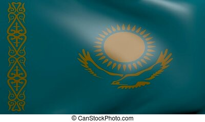 kazakhstan strong wind flag