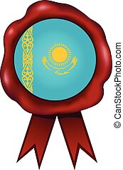 Kazakhstan Wax Seal - Kazakhstan wax seal.