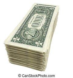 kazal, közül, american pénz, elszigetelt, képben látható