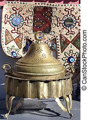Kazan - Bronze kazan and souvenirsin Bursa, Turkey