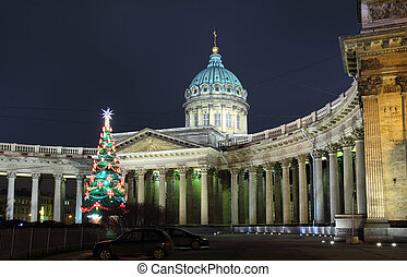 Kazan Cathedral at Christmas - St. Petersburg