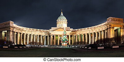 Kazan Cathedral at Christmas - St. Petersburg