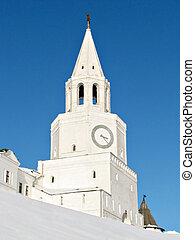 Kazan cremlin - The tower of the Kazan kremlin in wnter, ...