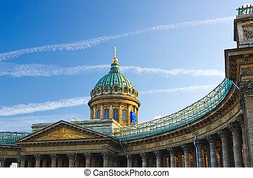 kazan, kathedraal, straat. petersburg, rusland