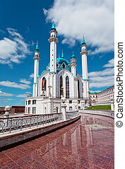 kazan, pionowy, strzelony., meczet, sharif, russia., qol
