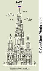 kazan, russia., epifanía, iglesia, señal, icono