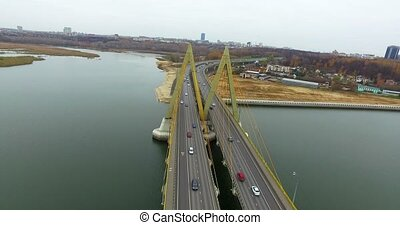 Kazan, Tatarstan Millennium Bridge - View of Kazan -...