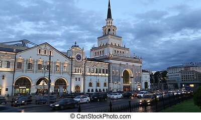 Kazansky railway terminal ( Kazansky vokzal) and night...