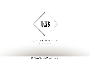 Letter Kb Logo Vector Kb Letter Logo Design Vector Illustration
