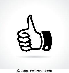 kciuk do góry, podobny, ikona