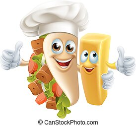 Kebab and Chip Friends - Kebab and Chip Friend food...