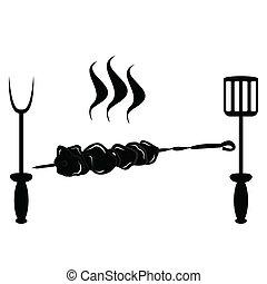 kebab and cutlery